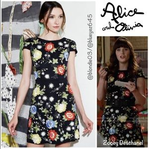 "Alice + Olivia ""Ellen"" embroidered dress 4"